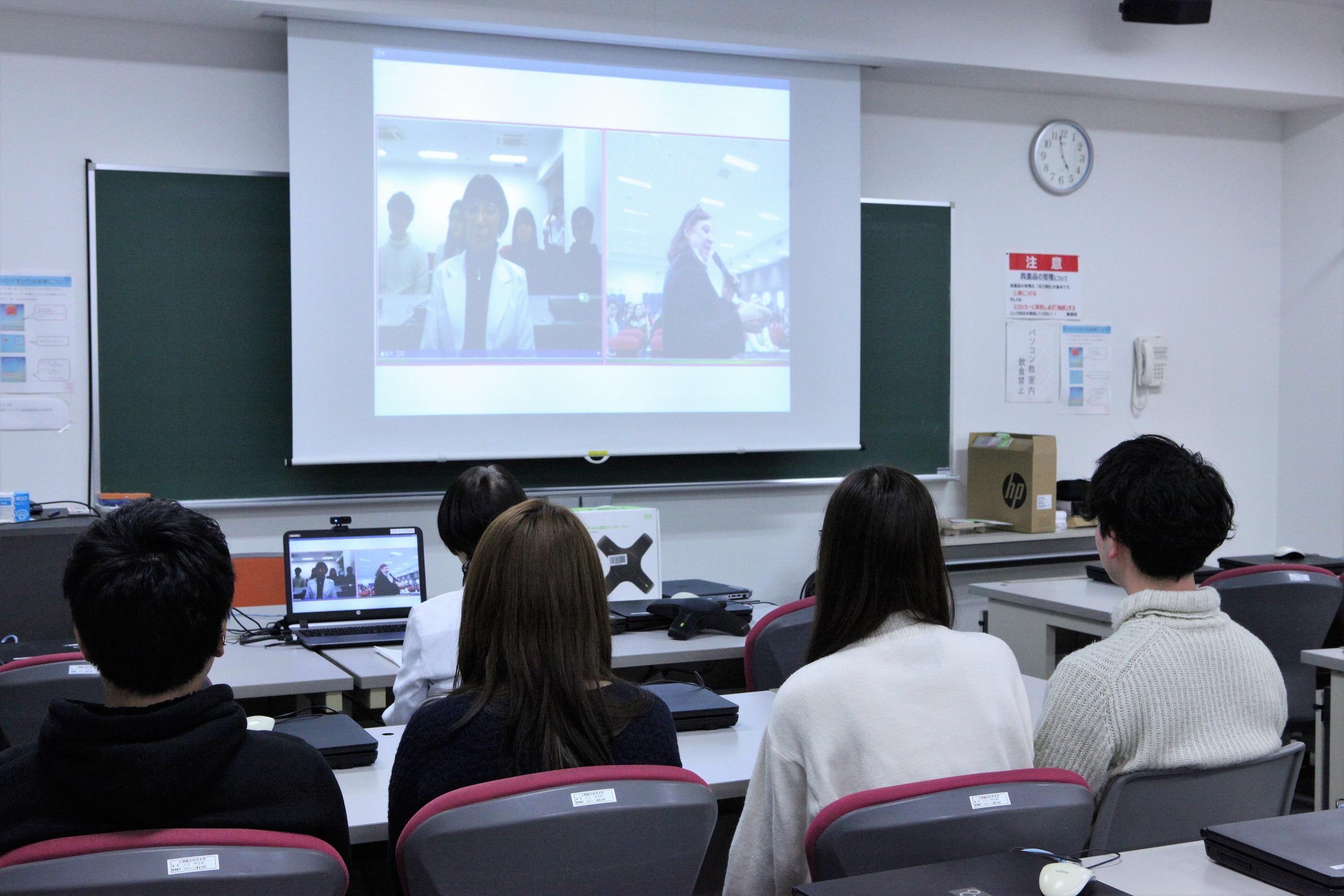 海外提携校とのネット交流